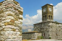 Gjirokaster Citadel, Clock Tower Royalty Free Stock Image
