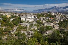 Gjirokaster is a city in southern Albania. Its old town is a UNESCO World Heritage Site, described as `a rare example of Royalty Free Stock Images