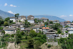 Gjirokastra in Albania. A panorama view over beautiful Gjirokastra in Albania Stock Image
