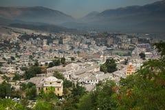 Gjirokastra, Albania stary miasto Zdjęcie Royalty Free