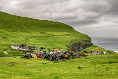 Gjogv, Faroe Islands, Denmark Stock Photos