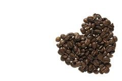 gjord bönakaffehjärta Arkivbild