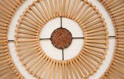 gjord bambulampa Royaltyfri Bild