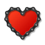 gjord chain hjärta stock illustrationer