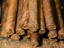 gjord cigarrhand - Arkivbild
