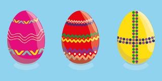 gjord easter äggbild bakgrundsmall med härligt, färgrikt, påskägg vektor vektor illustrationer