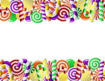 gjord färgrik ram för godisar Arkivbilder