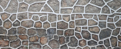 gjord stenvägg Fotografering för Bildbyråer