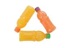 gjorda flaskor återanvänder tecken tre Fotografering för Bildbyråer