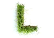 gjorda gräsbokstäver Royaltyfri Fotografi