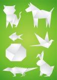 gjorda paper husdjur Arkivbild