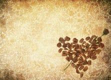 gjorda petals för bakgrundsgrunge steg hjärta stock illustrationer