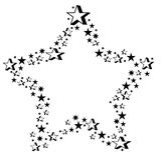 gjorda stjärnastjärnor Royaltyfri Fotografi