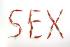 gjorda varma för chili könsbestämmer ord Arkivfoton