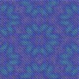Gjorde abstrakta blått stucken textur med blommamodellen sömlöst Arkivfoton