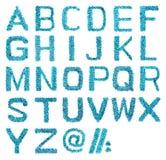 gjorde det blåa hantverket för alfabetet sequins Royaltyfri Bild