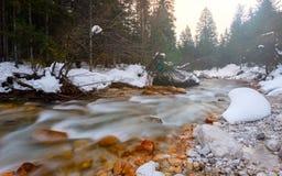 5 2012 gjorde floden russia för marschbergfotoet att time vinter Fotografering för Bildbyråer