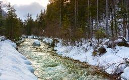 5 2012 gjorde floden russia för marschbergfotoet att time vinter Royaltyfria Bilder