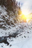 5 2012 gjorde floden russia för marschbergfotoet att time vinter Arkivfoton