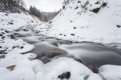 5 2012 gjorde floden russia för marschbergfotoet att time vinter Royaltyfri Fotografi