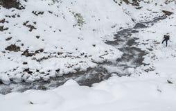 5 2012 gjorde floden russia för marschbergfotoet att time vinter Arkivbild