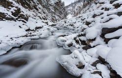 5 2012 gjorde floden russia för marschbergfotoet att time vinter Royaltyfria Foton