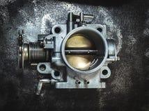 Gjorde ren gasspjällplattan Arkivfoton