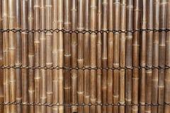 gjort bambustaket Arkivbilder