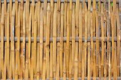 gjort bambustaket Royaltyfri Bild