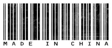 gjort grungy för barcodeporslin Royaltyfria Foton