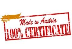 Gjort i Österrike det hundra procent certifikatet vektor illustrationer