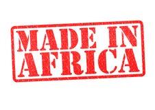 Gjort i Afrika den rubber stämpeln royaltyfria foton
