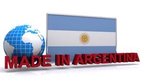 Gjort i Argentina stock illustrationer