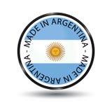 Gjort i Argentina den glansiga knappen - vektorillustration som isoleras på vit vektor illustrationer