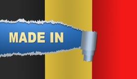 Gjort i Belgien, flagga, illustration Royaltyfria Bilder