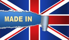 Gjort i Britannien, flagga, illustration Fotografering för Bildbyråer