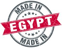 gjort i den Egypten stämpeln royaltyfri illustrationer