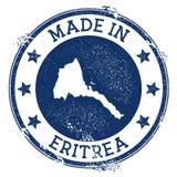gjort i den Eritrea stämpeln stock illustrationer