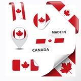 Gjort i den Kanada samlingen stock illustrationer