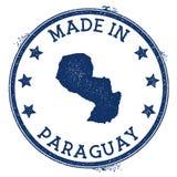 Gjort i den Paraguay stämpeln vektor illustrationer