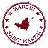 Gjort i den Saint Martin stämpeln royaltyfri illustrationer