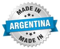 gjort i det Argentina emblemet royaltyfri illustrationer