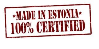 Gjort i Estland hundra procent auktoriserad revisor royaltyfri illustrationer