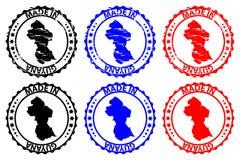 Gjort i Guyana den rubber stämpeln Royaltyfria Foton