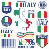 Gjort i Italien vektor illustrationer