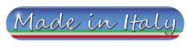 Gjort i Italien rengöringsdukknapp eller symbol Arkivfoto