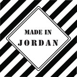 Gjort i Jordanien Royaltyfria Bilder