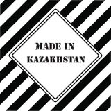 Gjort i Kasakhstan Royaltyfri Foto