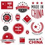 Gjort i Kina designer Arkivfoto