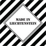 Gjort i Liechtenstein Arkivfoton